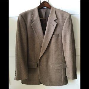Burberry Men's 100% wool tweed brown jacket blazer